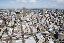 JOHANNESBURG, SOUTH AFRICA - NOVEMBER 20: An aerial view shows Johannesburg business district in Johannesburg, South Africa on November 20, 2016. Shiraaz Mohamed / Anadolu Agency    BRAA20161120_625 Johannesburg Afrique du Sud South Africa
