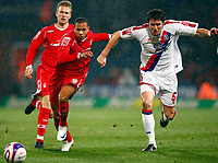 Nathan Tyson.( Forest ). Patrick McCarthy.( Palace ). Crystal Palace Vs Nottingham Forest at Selhurst Park Coca Cola Championship.  28/10/2008. Credit Colorsport / Kieran Galvin