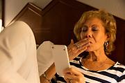 Senior Woman using Video Chat on Smart Phone