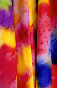Image of colorful scarves for sale on Tahiti, French Polynesia by Randy Wells