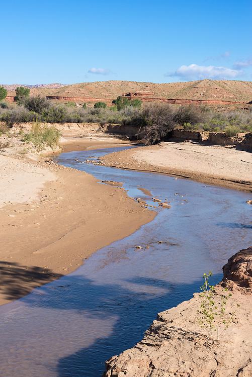 Paria River in the desert of Southern Utah.
