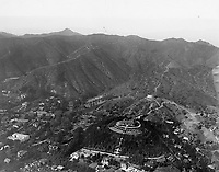 1924 Aerial of The Bernheimer Residence  (now Yamashiro Restaurant) and the Hollywood Hills