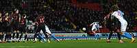 Blackburn Rovers' Stewart Downing fires in a free kick<br /> <br /> Photographer Dave Howarth/CameraSport<br /> <br /> The EFL Sky Bet Championship - Blackburn Rovers v Stoke City - Wednesday 26th February 2020 - Ewood Park - Blackburn <br /> <br /> World Copyright © 2020 CameraSport. All rights reserved. 43 Linden Ave. Countesthorpe. Leicester. England. LE8 5PG - Tel: +44 (0) 116 277 4147 - admin@camerasport.com - www.camerasport.com