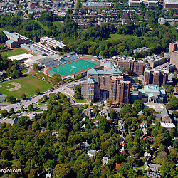Aerial view of Johns Hopkins University, Baltimore Maryland
