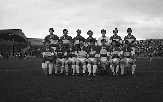 Group photograph of the Minor Laois team at the All Ireland Minor Gaelic Football Final Cork v. Laois in Croke Park on the 24th September 1967.<br /> Headline: