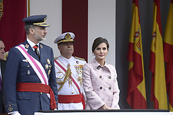 King Felipe VI of Spain, Queen Letizia of Spain attended the Armed Forces Day Homage on May 26, 2018 in Logrono, La Rioja, Spain. Photo by Archie Andrews/ABACAPRESS.COM
