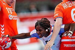 03-12-2019 JAP: Netherlands - Cuba, Kumamoto<br /> Third match 24th IHF Women's Handball World Championship, Netherlands win the third match against Cuba with 51- 23. / Merel Freriks #19 of Netherlands, Laura van der Heijden #6 of Netherlands, Yarumy Cespedes Chirino #55 of Cuba