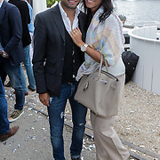 NLD/Amsterdam/20120601 - Uitreiking Talkies Terras Awards 2012, Demy de Zeeuw en partner Danielle Slof