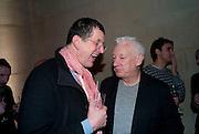 ANTHONY GORMLEY; MICHAEL CRAIG-MARTIN, Turner Prize 2010. Tate Britain. Millbank. London. 6 December 2010. -DO NOT ARCHIVE-© Copyright Photograph by Dafydd Jones. 248 Clapham Rd. London SW9 0PZ. Tel 0207 820 0771. www.dafjones.com.