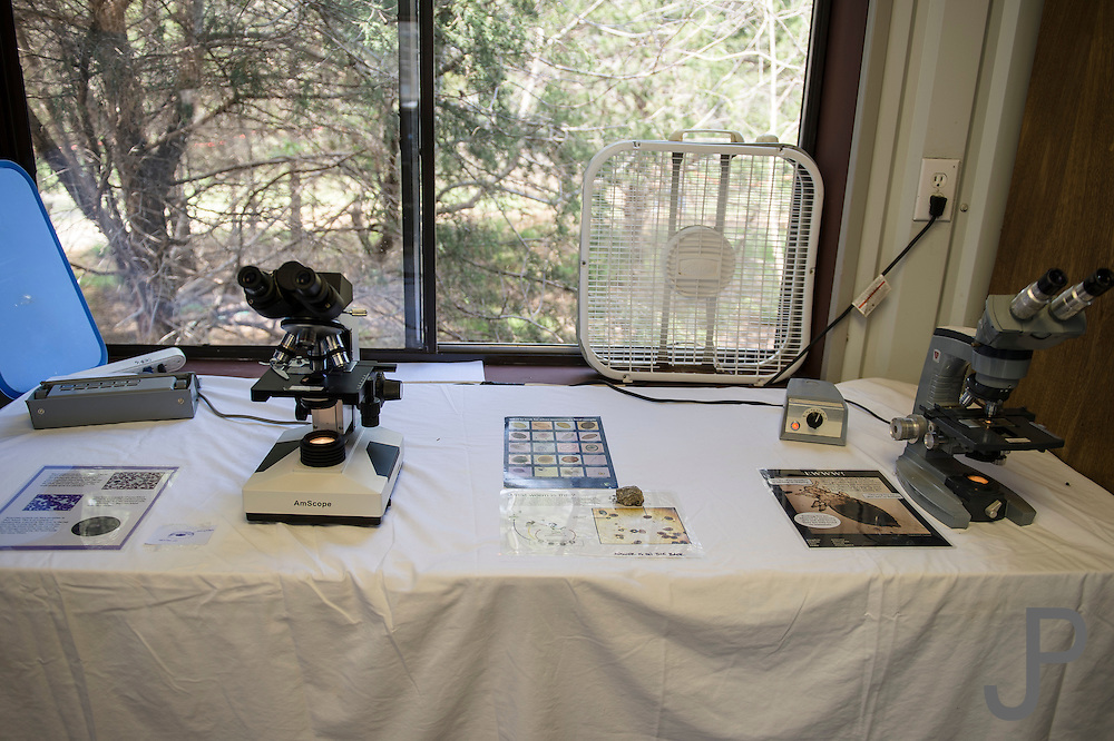 Wilcare staff use a variety of scientific instruments to diagnose and care for wild animals.