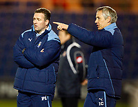 Paul Lambert Manager of Colchester United with his asst Manager.  Colchester United v Swindon Town at  Weston Homes Community Stadium Colchester Coca-Cola Div 1<br /> 10/03/2009. Credit Colorsport  / Kieran Galvin