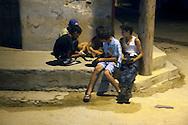 Night corner in Gibara, Holguin, Cuba.
