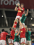 Peter O'Mahony of Ireland and Brett Beukeboom of Canada in the line out during the 2016 Guinness Series  autumn international rugby match, Ireland v Canada at the Aviva Stadium in Dublin, Ireland on Saturday 12th November 2016.<br /> pic by  John Halas, Andrew Orchard sports photography.
