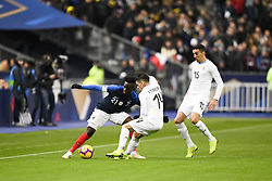 November 20, 2018 - Saint Denis, France - 21 Tanguy Ndombele (fra) - 14 Lucas Torreira (uru) - 15 Matias Vecino  (Credit Image: © Panoramic via ZUMA Press)