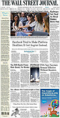 September 16, 2021 - USA: Front-page: Today's Newspapers In United States