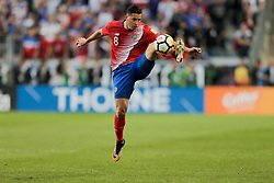 September 1, 2017 - Harrison, NJ, USA - Harrison, N.J. - Friday September 01, 2017:   Bryan Oviedo during a 2017 FIFA World Cup Qualifying (WCQ) round match between the men's national teams of the United States (USA) and Costa Rica (CRC) at Red Bull Arena. (Credit Image: © John Dorton/ISIPhotos via ZUMA Wire)