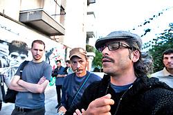 Taranto 11 ottobre 2011.Visita presso il quartiere popolare San Paolo ..Apulia Film Commission.III edizione del workshop di scrittura internazionale AAW PugliaExperience