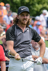 August 9, 2018 - Town And Country, Missouri, U.S - TOMMY FLEETWOOD from England watches his tee shot on hole number 6 during round one of the 100th PGA Championship on Thursday, August 8, 2018, held at Bellerive Country Club in Town and Country, MO (Photo credit Richard Ulreich / ZUMA Press) (Credit Image: © Richard Ulreich via ZUMA Wire)