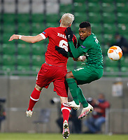 RAZGRAD, BULGARIA - OCTOBER 22: Cicinho of Ludogorets in action during the UEFA Europa League Group J stage match between PFC Ludogorets Razgrad and Royal Antwerp at Ludogorets Arena on October 22, 2020 in Razgrad, Bulgaria. (Photo by Nikola Krstic/MB Media)