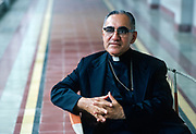 Óscar Arnulfo Romero y Galdámez (15 August 1917 – 24 March 1980)[3] was a prelate of the Catholic Church in El Salvador, who served as the fourth Archbishop of San Salvador. He spoke out against poverty, social injustice, assassinations and torture. In 1980, Romero was assassinated while offering Mass in the chapel of the Hospital of Divine Providence. ©1979 Leif Skoogfors