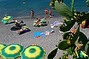 ITALY, Liguria, Camogli.relaxing on the beach