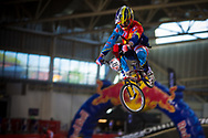 #200 (DARNAND Simba) FRA at the 2014 UCI BMX Supercross World Cup in Manchester.