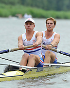 Amsterdam, NETHERLAND, GBR BM2-. Bow. George NASH and Constantine LOULOUDIS.  2011 FISA U23 World Rowing Championships, {dow], {date} [Mandatory credit:  Intersport Images]. , Bosbaan is a rowing lake, course, Amsterdamse Bos Amsterdam Forest, Amstelveen, Netherlands., Amstelveen,