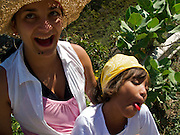 Young Colombian girl discovers strawberry flavored popsicles for the first time - Tayrona National Park - Colombia