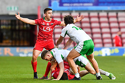 Wales ;  Rugby League World Cup Qualifier,Wales v Ireland ; James Olds of Wales appeals to the Referee <br /> <br /> <br /> Credit:   Craig Thomas/Replay Images