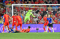 Football - 2022 FIFA World Cup - European Qualifying - Group E - Wales vs Estonia - Cardiff City Stadium - Wednesday 8th September 2021<br /> <br /> Estonia miss the target in extra time<br /> <br /> COLORSPORT/WINSTON BYNORTH