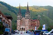 090718 Spanish Royals visit Asturias. Views of Covadonga