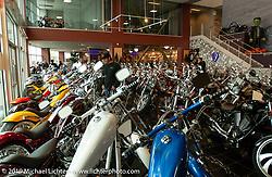 The main floor showroom of the new Arlen Ness store. Dublin, CA. 2004. Photograph ©2004 Michael Lichter