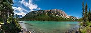 Sherbrooke Lake, Yoho National Park, British Columbia, Canada.