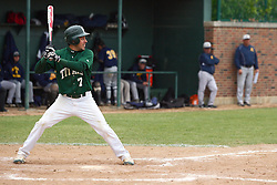 28 April 2012:  Anthony Lopez during an NCAA division 3 Baseball game between the Augustana Vikings and the Illinois Wesleyan Titans in Jack Horenberger Stadium, Bloomington IL