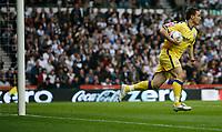 Photo: Steve Bond.<br />Derby County v Southampton. Coca Cola Championship. Play Off Semi Final, 2nd Leg. 15/05/2007. Marek Saganowski collects the ball after Viafara's goal