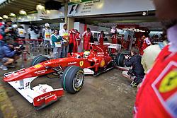 O piloto brasileiro de Fórmula 1 Felipe Massa na saída dos boxes da Ferrari, durante o circuito do Grande Prémio do Brasil em Interlagos, em São Paulo. FOTO: Jefferson Bernardes/Preview.com
