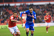 Milan Lalkovic, Michael Rose during the Sky Bet League 1 match between Walsall and Rochdale at the Banks's Stadium, Walsall, England on 2 January 2016. Photo by Daniel Youngs.