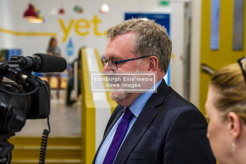 Pictured: David Mundell<br /> Scottish Secretary David Mundell visited a 'digital garage' in Edinburgh which trains people in digital skills. The Google Digital Garage, in Shandwick Place is a social responsibility outlet for the corporate giant<br /> <br /> <br /> Ger Harley   EEm 23 July 2018