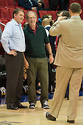 DALLAS, TX - DECEMBER 16: Nicholls State Colonels head coach J.P. Pipersk and former U.S. President George W. Bush pose for a photo before tipoff against the SMU Mustangs on December 16, 2015 at Moody Coliseum in Dallas, Texas.  (Photo by Cooper Neill/Getty Images) *** Local Caption *** J.P. Pipersk; George W. Bush