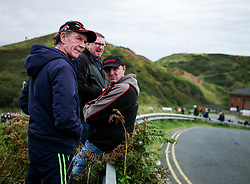© Licensed to London News Pictures. <br /> 10/09/2017 <br /> Saltburn by the Sea, UK.  <br /> <br /> Spectators wait between heats during the annual Saltburn by the Sea Historic Gathering and Hill Climb event. Organised by Middlesbrough and District Motor Club the event brings together owners of a wide range of classic cars and motorcycles dating from the early 1900's to 1975. Participants take part in a hill climb to test their machines up a steep hill near the town. Once held as a competitive gathering a change in road regulations forced the hill climb to become a non-competitive event.<br /> <br /> Photo credit: Ian Forsyth/LNP