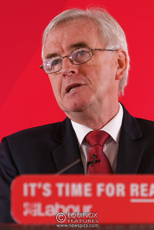 London, United Kingdom - 9 December 2019<br /> John McDonnell gives an economics speech in the run up to the general election 2019, on behalf of the Labour Party at Coin Street Community Builders, London, England, UK.<br /> (photo by: EQUINOXFEATURES.COM)<br /> Picture Data:<br /> Photographer: Equinox Features<br /> Copyright: ©2019 Equinox Licensing Ltd. +443700 780000<br /> Contact: Equinox Features<br /> Date Taken: 20191209<br /> Time Taken: 11143800<br /> www.newspics.com