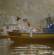 Fishing boats in Castro, Puglia, Italy
