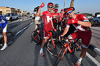 Arrival, KRISTOFF Alexander (NOR), GUARNIERI Jacopo (ITA),  joy Team Katusha, during the 15th Tour of Qatar 2016, Stage 4, Al Zubarah Fort - Madinat Al Shamal (189Km), on February 11, 2016 - Photo Tim de Waele / DPPI