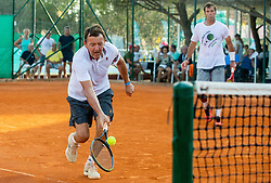 Matjaz Koncan and Samo Zakersnik during Tennis tournament of Slovenian Recreational players, on August 16, 2020 in SC Marina, Portoroz / Portorose, Slovenia. Photo by Vid Ponikvar / Sportida