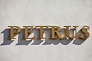 The famous Chateau Petrus wine estate at Pomerol in the Bordeaux region of France