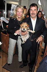 ANDY & CHRISTINE PARTON and their dog Jacks at the 10th anniversary of George in association with The Dog's Trust held at George, 87-88 Mount Street, Mayfair, London on 13th September 2011.