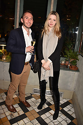 Talulah Riley and Oliver Lewis at The Ivy Chelsea Garden's Annual Summer Garden Party, The Ivy Chelsea Garden, 197 King's Road, London England. 9 May 2017.<br /> Photo by Dominic O'Neill/SilverHub 0203 174 1069 sales@silverhubmedia.com