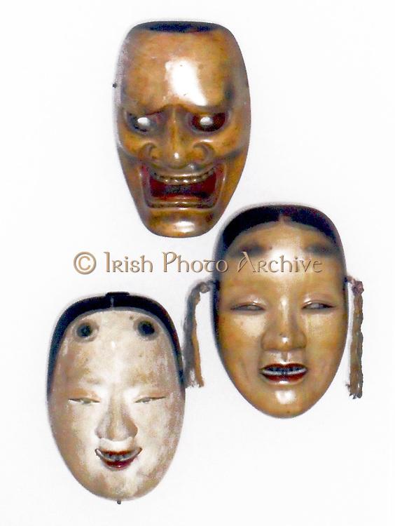 Japanese Noh masks 17th Century.