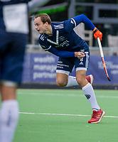 AMSTELVEEN - Pepijn Scheen (Pinoke) tijdens   hoofdklasse hockeywedstrijd mannen, Pinoke-Kampong (2-5) . COPYRIGHT KOEN SUYK