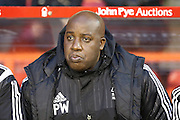 Nottingham Forest manager Paul Williams  during the Sky Bet Championship match between Nottingham Forest and Brighton and Hove Albion at the City Ground, Nottingham, England on 11 April 2016. Photo by Simon Davies.